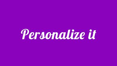 personlize